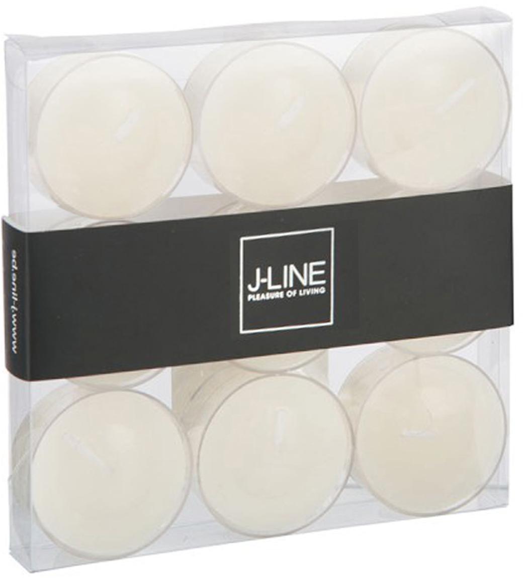 Lumini Pova, 9 pz., Contenitore: materiale sintetico, Bianco, Larg. 12 x Alt. 2 cm