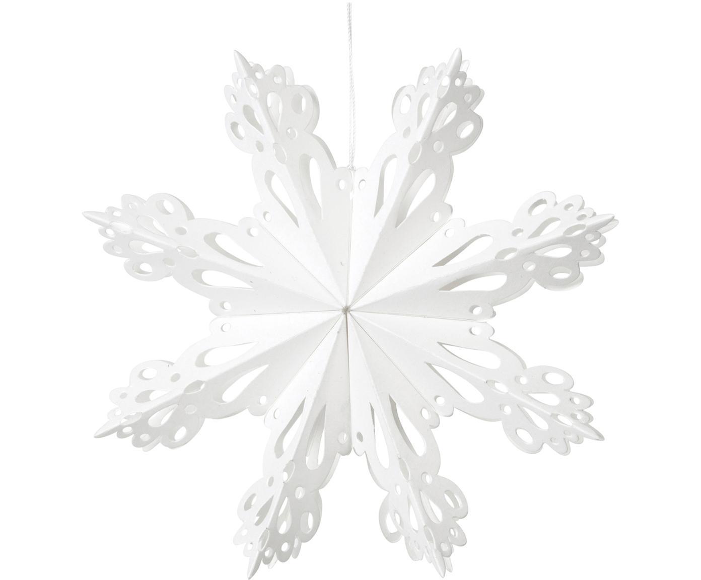 Baumanhänger Snowflake, 2 Stück, Papier, Weiss, Ø 15 cm