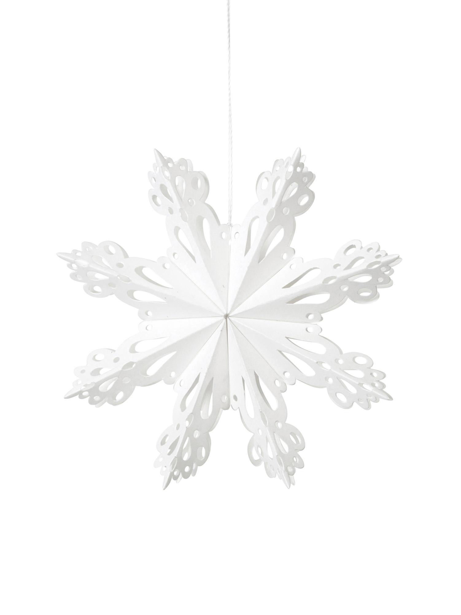 Adorno navideño XLSnowflake, Papel, Blanco, Ø 15 cm