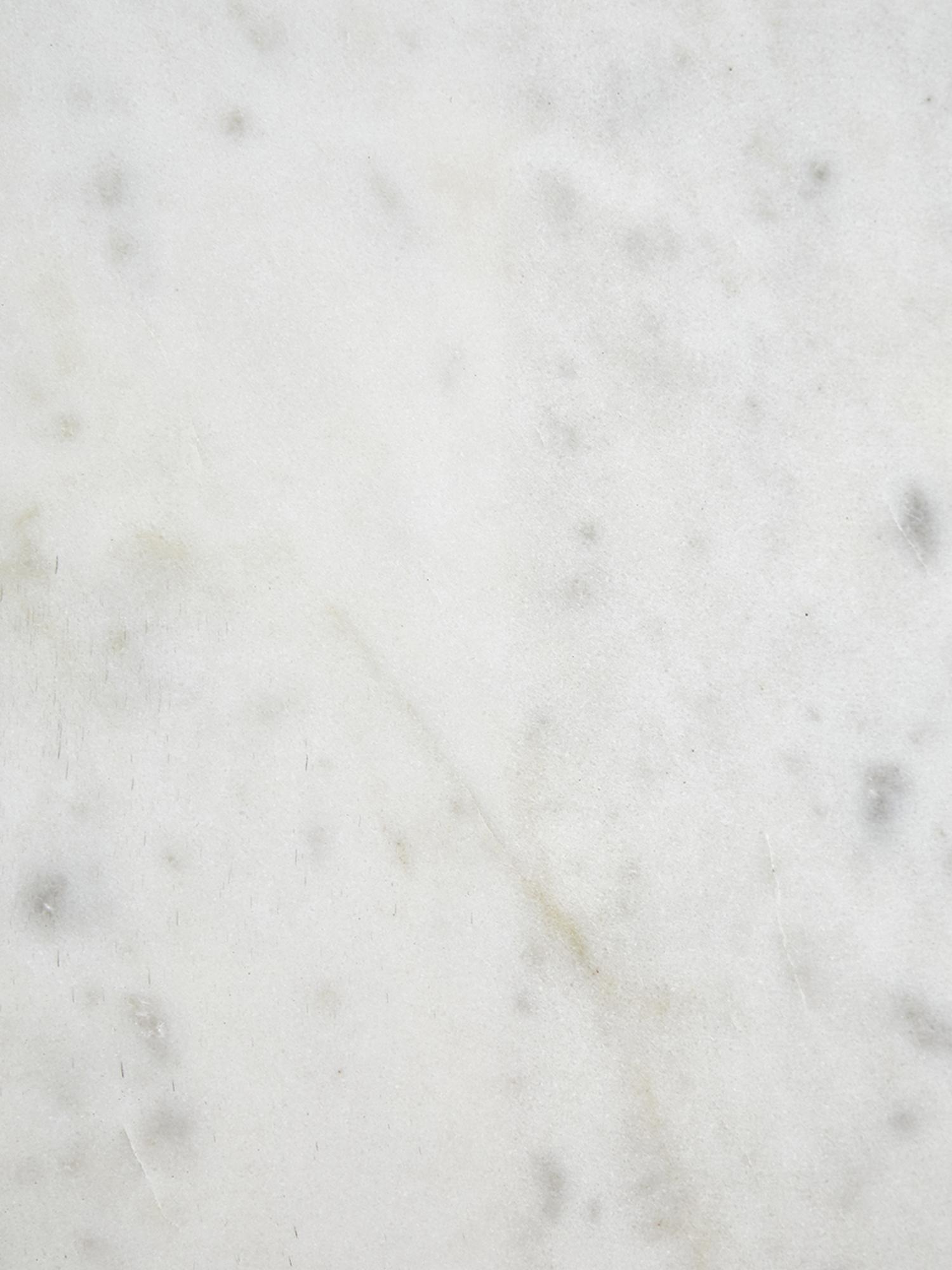 Marmor-Couchtisch Alys, Tischplatte: Marmor, Gestell: Metall, pulverbeschichtet, Tischplatte: Weiss-grauer MarmorGestell: Goldfarben, glänzend, 80 x 45 cm