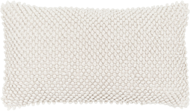 Federa arredo in cotone Indi, 100% cotone, Bianco latteo, Larg. 30 x Lung. 50 cm