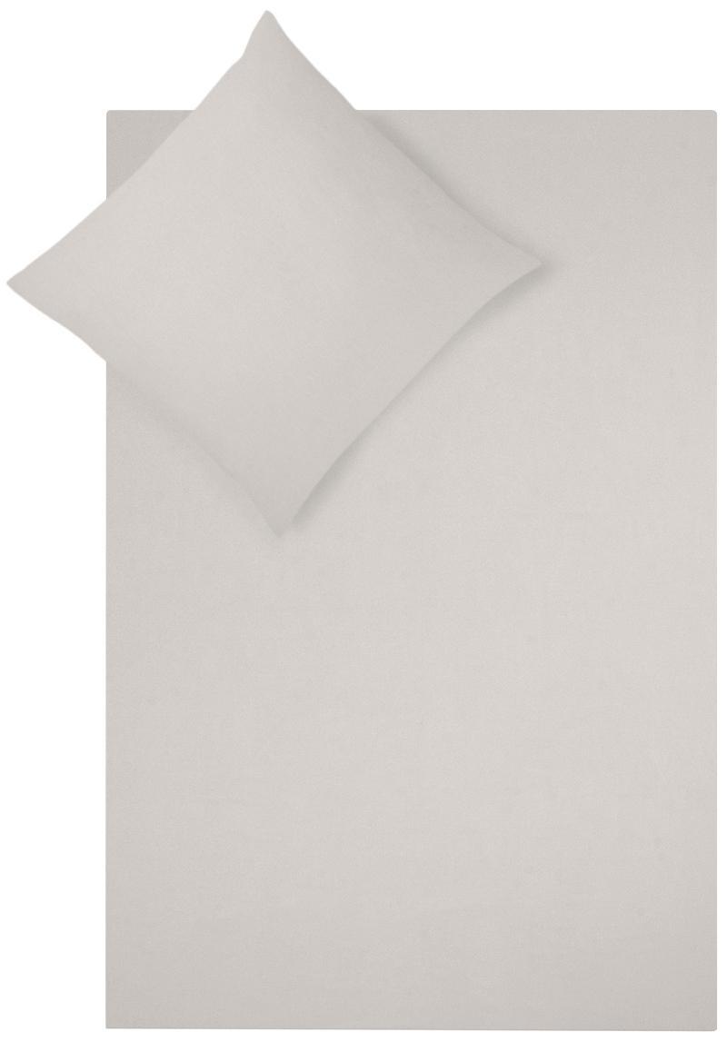 Flanell-Bettwäsche Biba in Beige, Webart: Flanell Flanell ist ein s, Taupe, 240 x 220 cm + 2 Kissen 80 x 80 cm