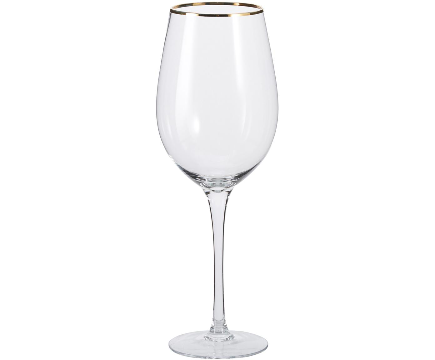 Copas de vino Chloe, 4uds., Vidrio, Transparente, Ø 9 x Al 26 cm