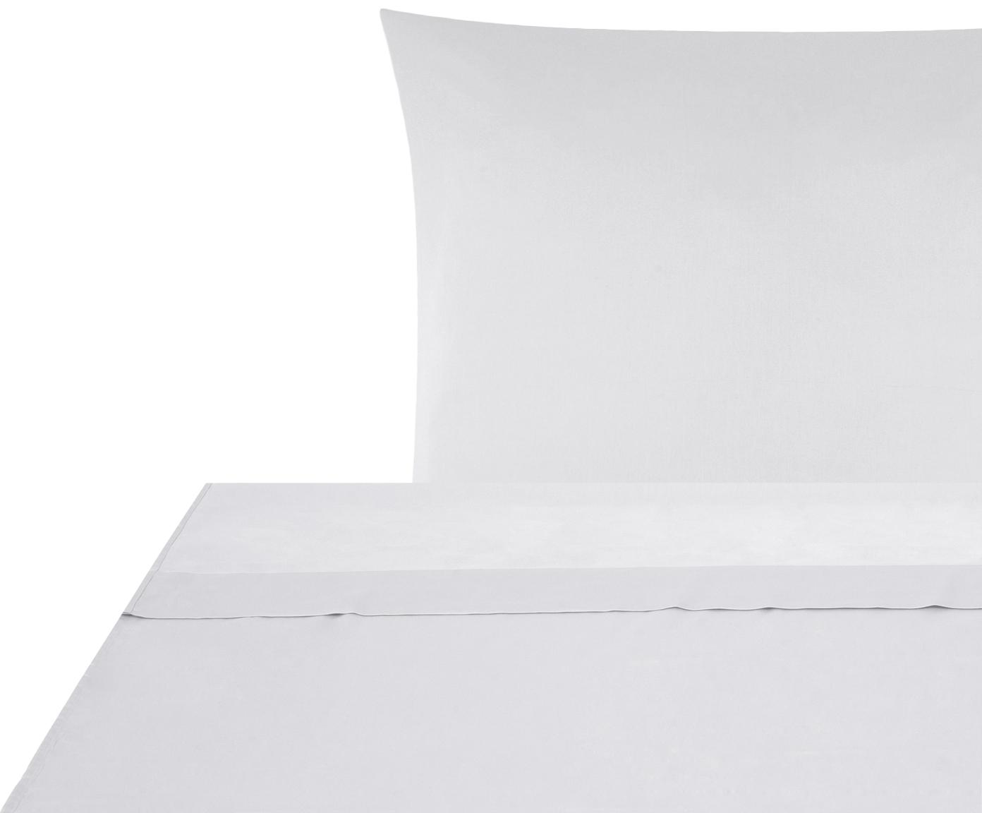 Sábana encimera de satén Comfort, Gris claro, Cama 150/160 cm (240 x 270 cm)