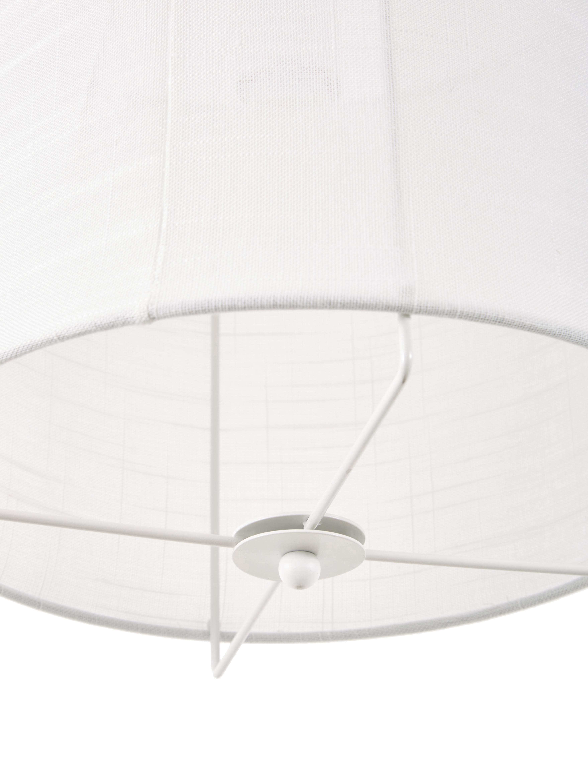 Lampada a sospensione in lino Clouds, Paralume: lino, Bianco, Ø 30 x Alt. 30 cm