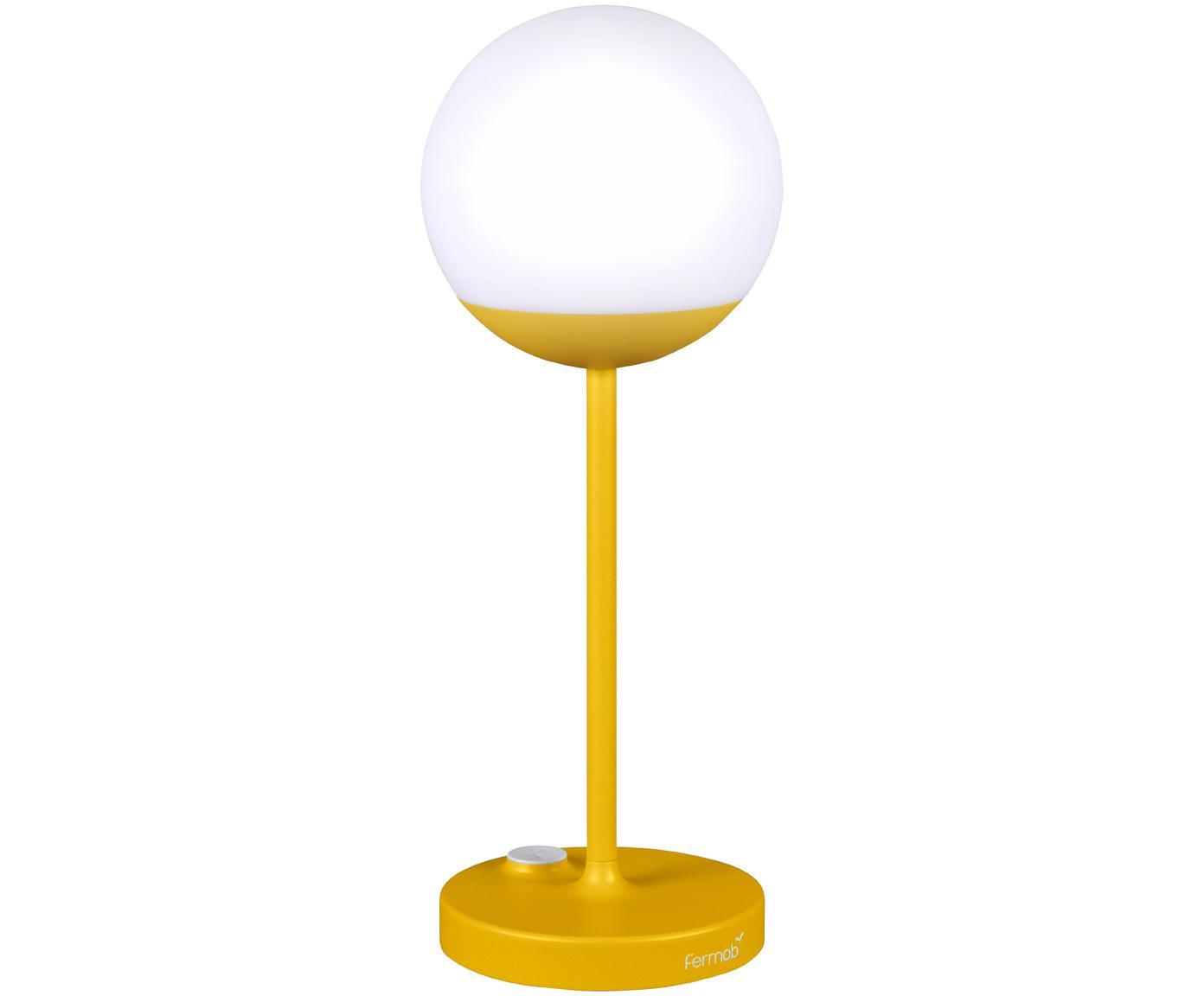 Mobile LED Außenleuchte Mooon, Lampenschirm: Kunststoff, Gelb, Ø 15 x H 41 cm