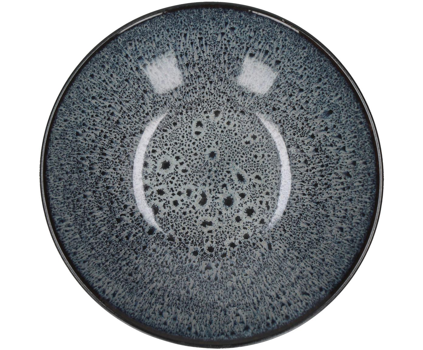 Platos hondos Mirha. 4uds., Gres, Gris oscuro, Ø 18 cm