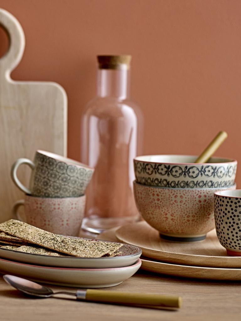 Set 4 ciotole Cécile, Ceramica, Rosa, grigio, beige, Ø 13 x Alt. 8 cm