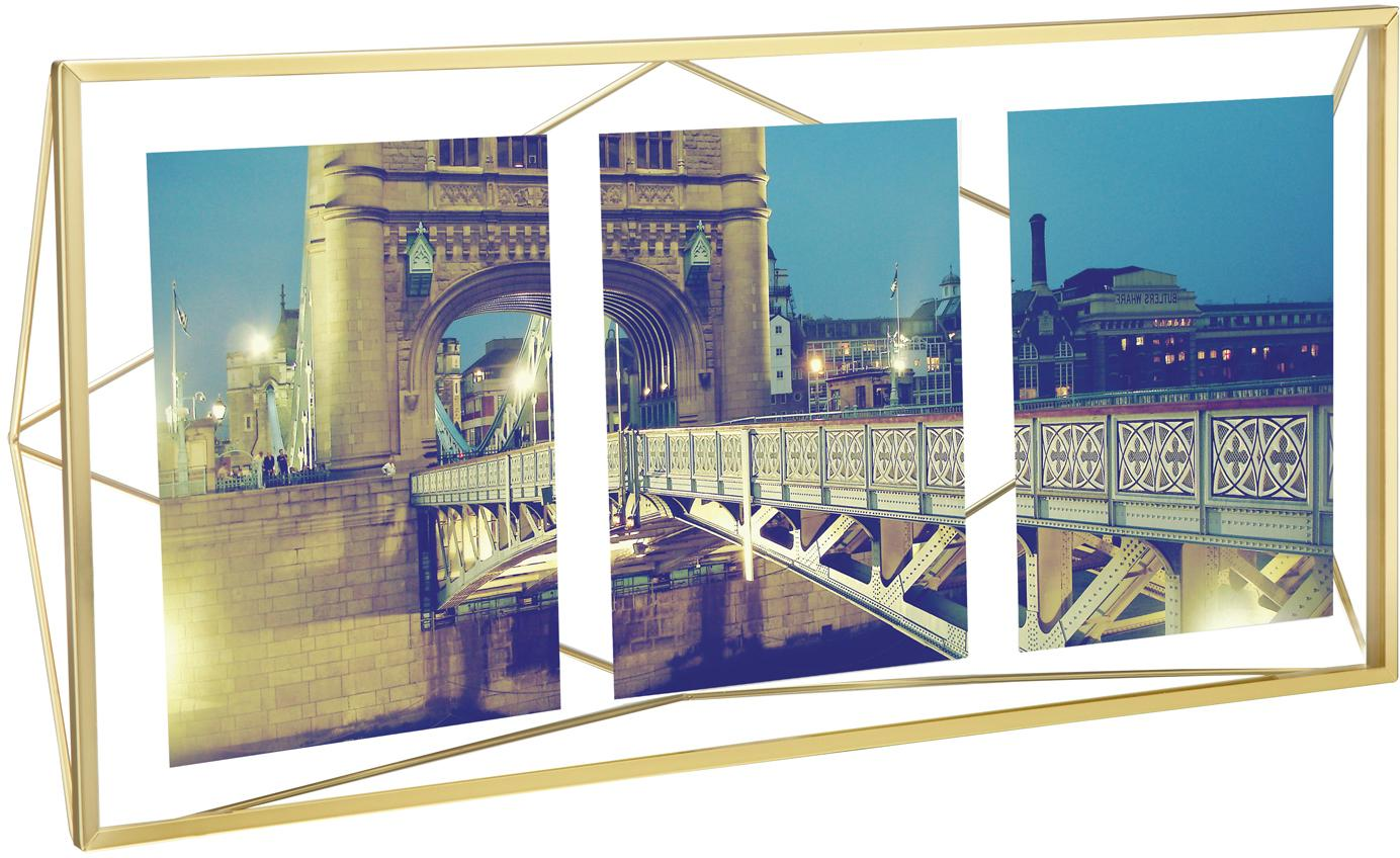 Fotolijstje Prisma, Frame: vermessingd staal, Messingkleurig, 13 x 18 cm