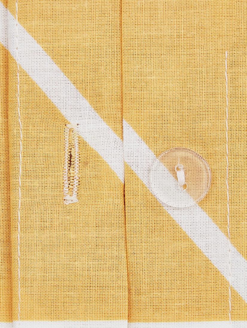Pościel z bawełny renforcé Mirja, Musztardowy, kremowobiały, 240 x 220 cm
