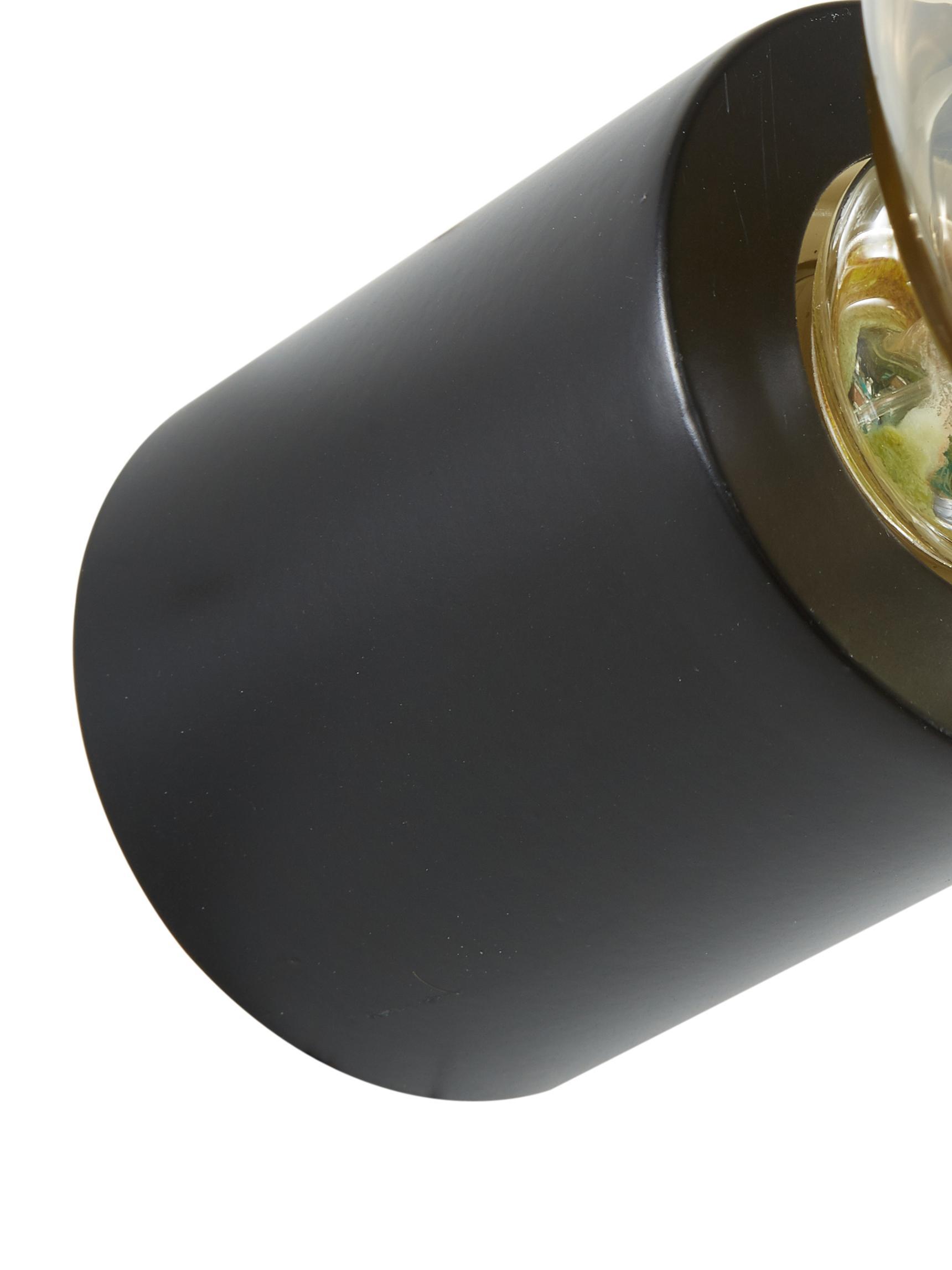 Applique Chanty, Metallo verniciato a polvere, Nero opaco, Ø 6  x Prof. 7 cm