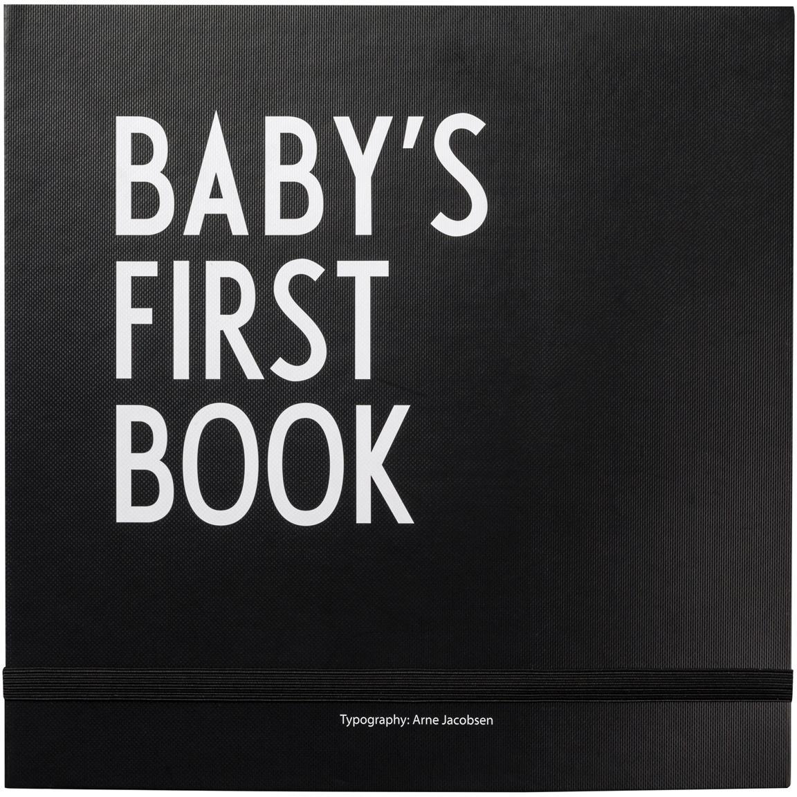 Erinnerungsbuch Baby´s First Book, Papier, Schwarz, Weiß, 25 x 25 cm
