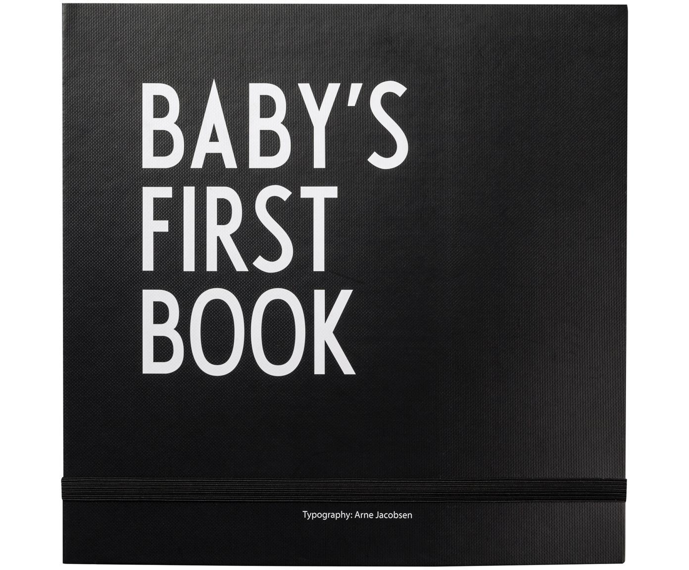 Erinnerungsbuch Baby´s First Book, Papier, Schwarz, Weiss, 25 x 25 cm