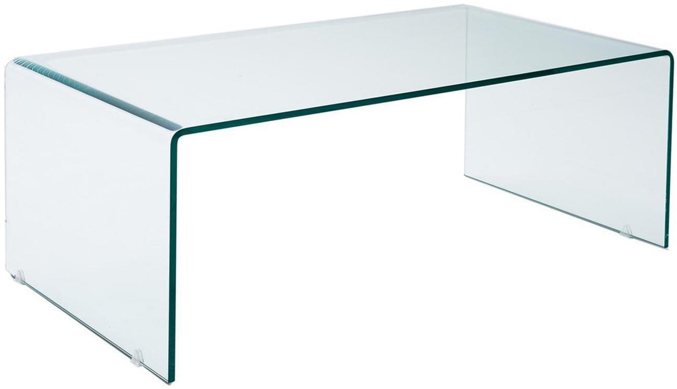 Mesa de centro Line, Vidrio templado, Transparente, An 110 x Al 55 cm