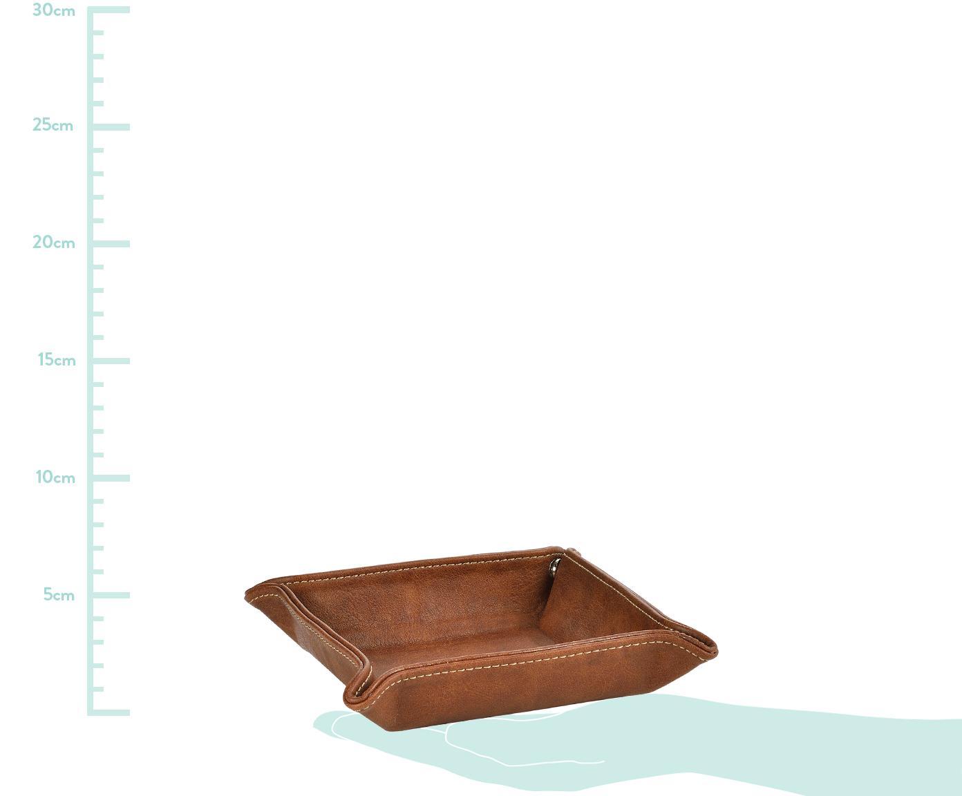 Vide-Poche Button, Bezug: Polyurethan (Kunstleder), Braun, 16 x 4 cm