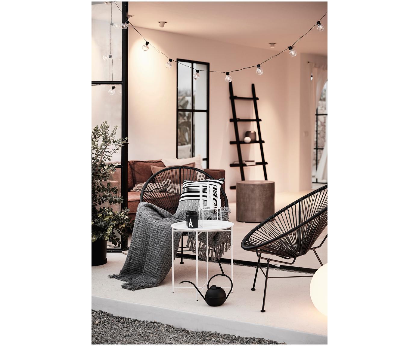Kandelaar Kubus, Gelakt staal, Wit, 14 x 20 cm