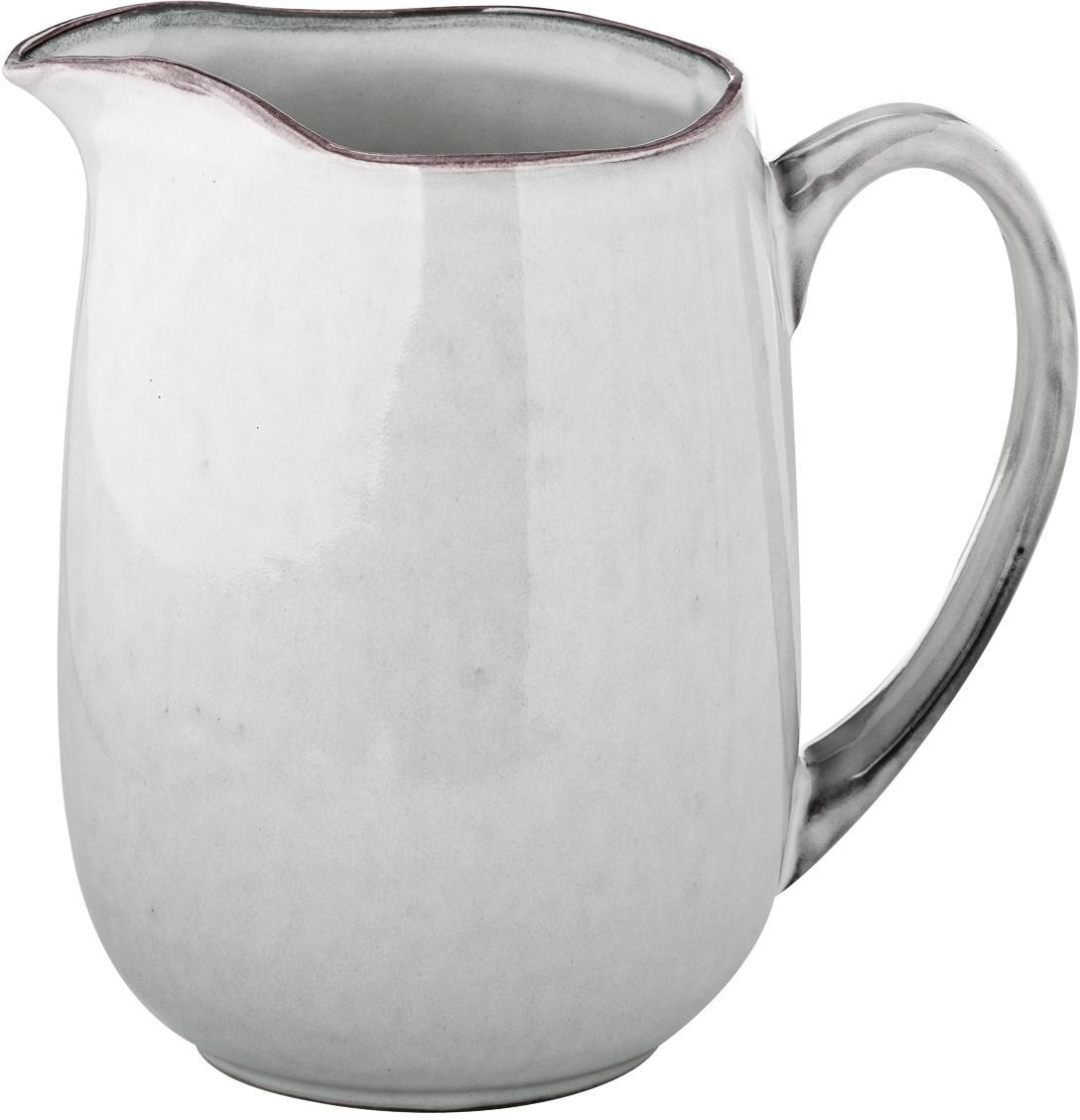 Brocca da latte fatta a mano Nordic Sand, Terracotta, Sabbia, Larg. 17 x Alt. 16 cm