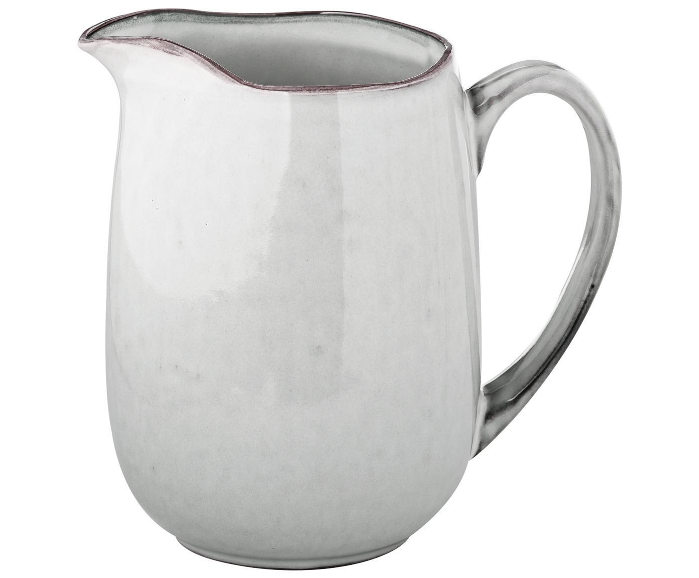 Handgemachter Milchkrug Nordic Sand aus Steingut, Steingut, Sand, 17 x 16 cm