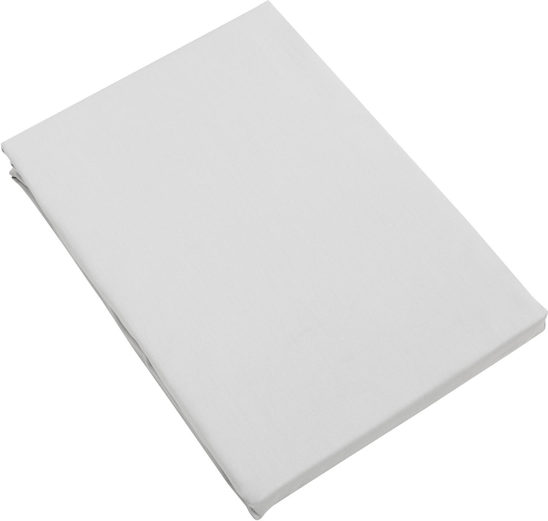 Spannbettlaken Premium in Hellgrau, Baumwollsatin, Webart: Satin, leicht glänzend, Hellgrau, 180 x 200 cm