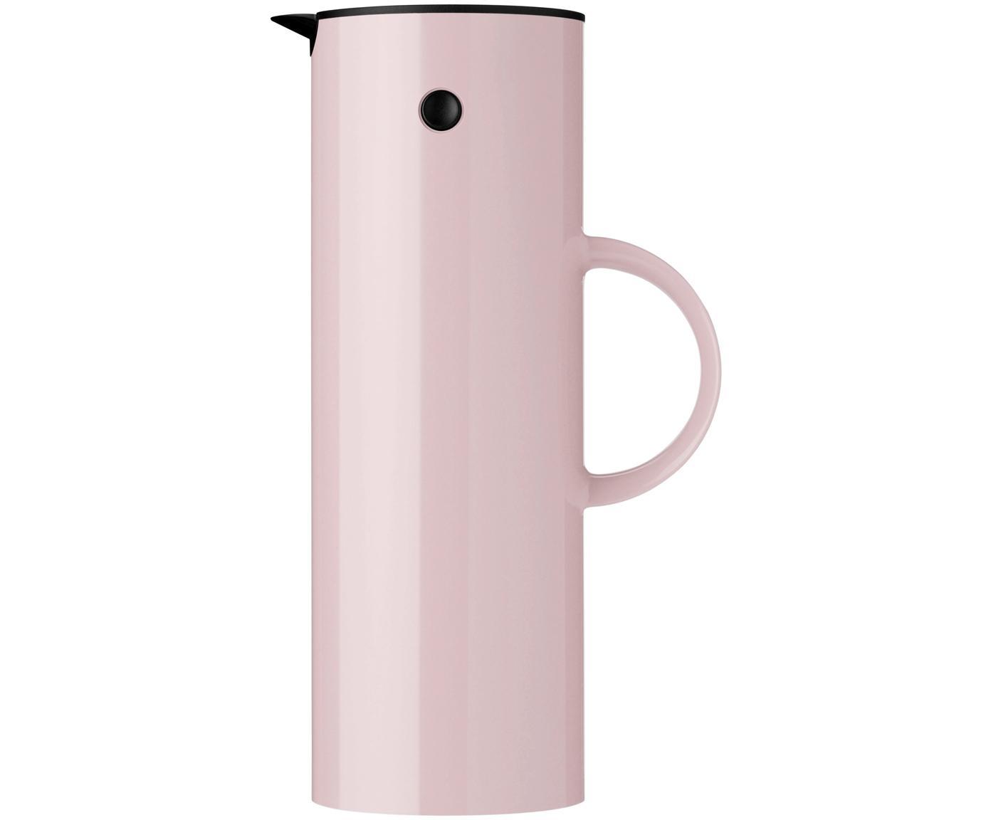 Isolierkanne EM77 in Rosa glänzend, ABS-Kunststoff, im Inneren mit Glaseinsatz, Lavendelfarben, 1 L