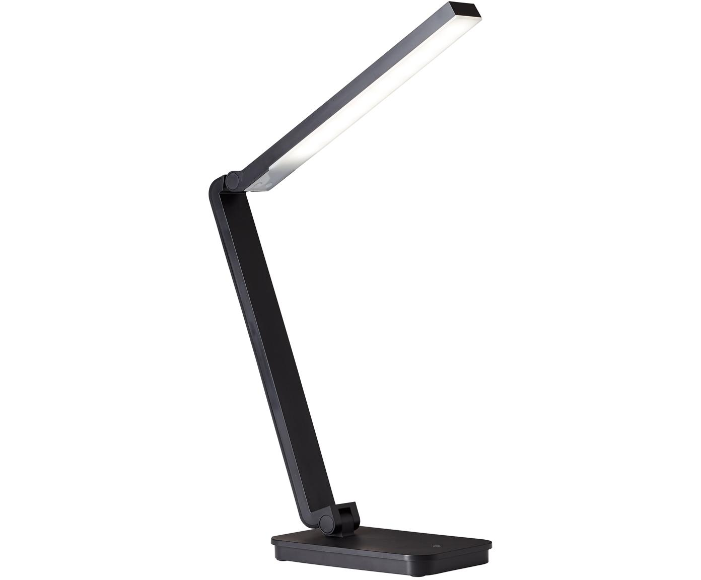Lámpara de mesa LED regulable Tori, Plástico, Negro, An 11 x Al 61 cm