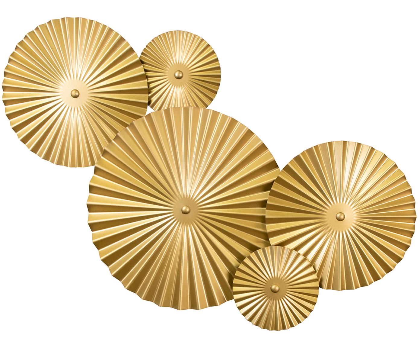 Design wandlamp Omega met stekker, Lamp: vermessingd metaal, Messingkleurig, 70 x 55 cm