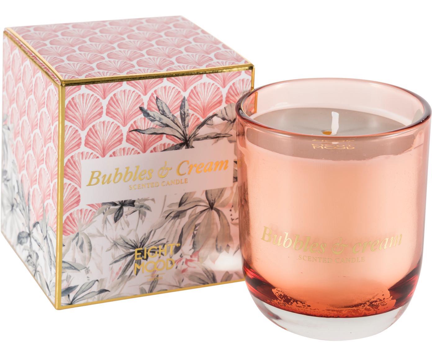 Świeca zapachowa Allure (słodka śmietanka), Blady różowy, wielobarwny, S 8 x W 9 cm
