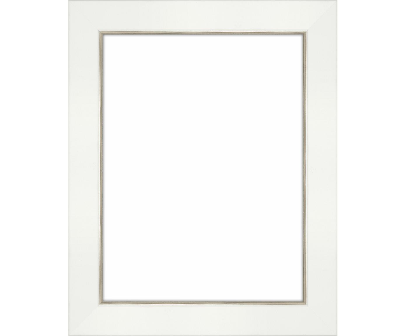Cornice Classico, Cornice: Legno di pino (Pinus Sylv, Retro: Pannelli di fibra a media, Bianco, 15 x 20 cm