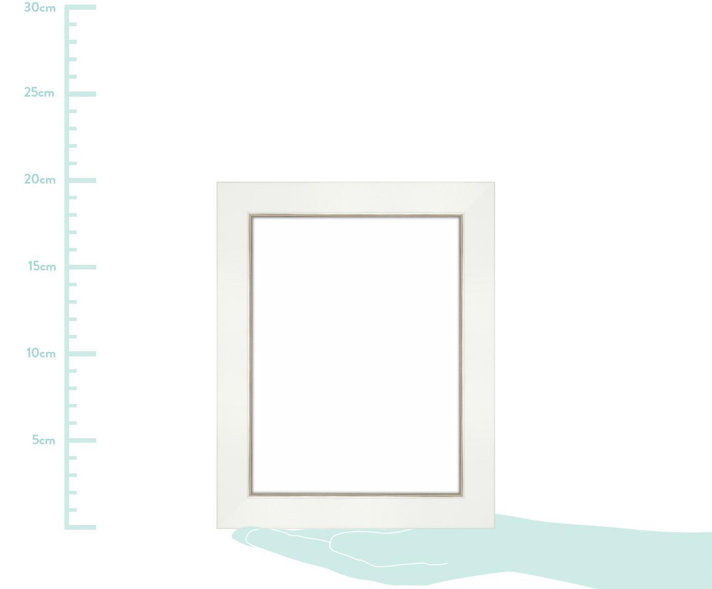 Bilderrahmen Classico, Rahmen: Waldkiefernholz (Pinus Sy, Front: Glas, Rückseite: Mitteldichte Holzfaserpla, Weiß, 15 x 20 cm