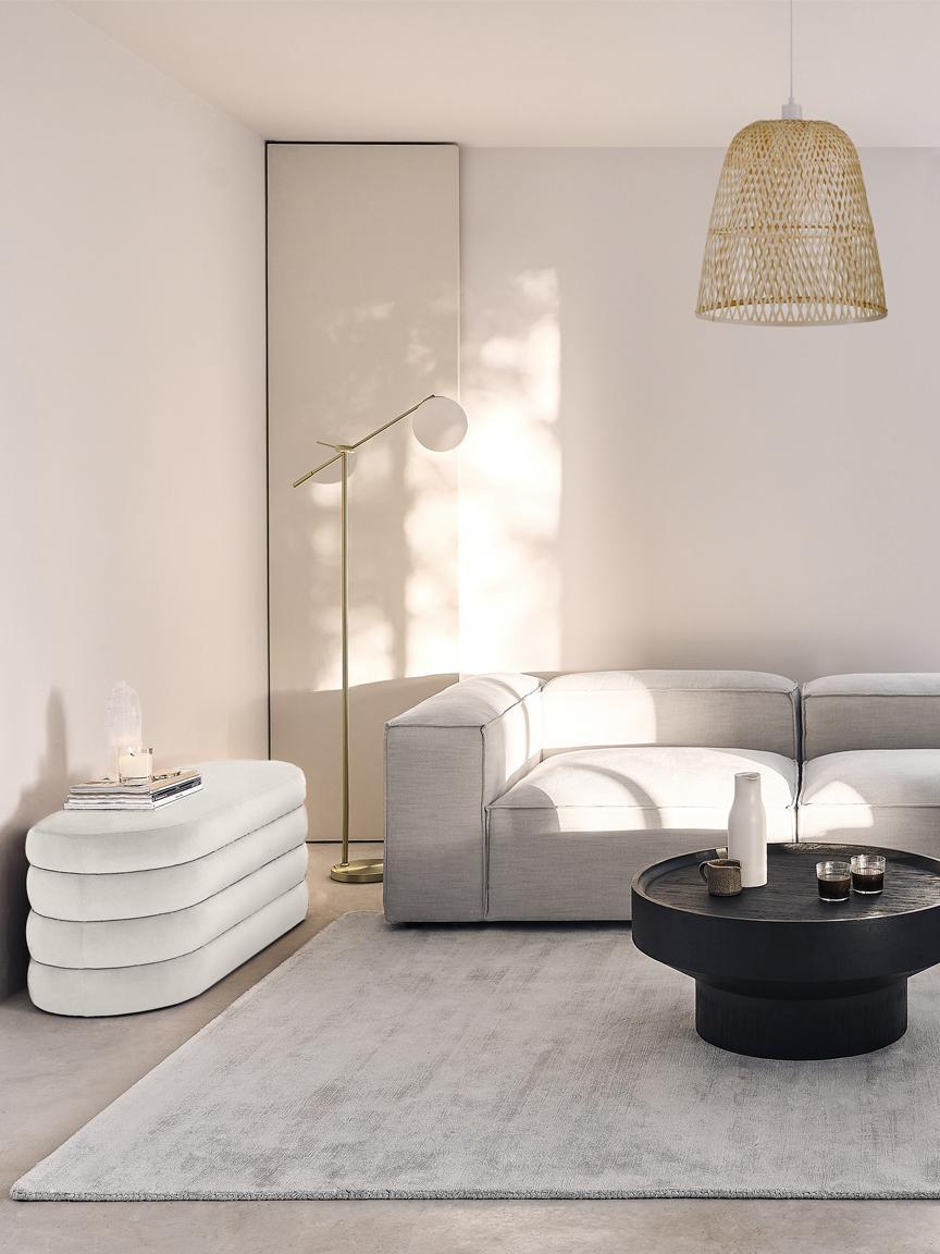 Fluwelen bank Alto, Bekleding: fluweel (polyester), Frame: massief grenenhout, multi, Fluweel crèmewit, 110 x 47 cm