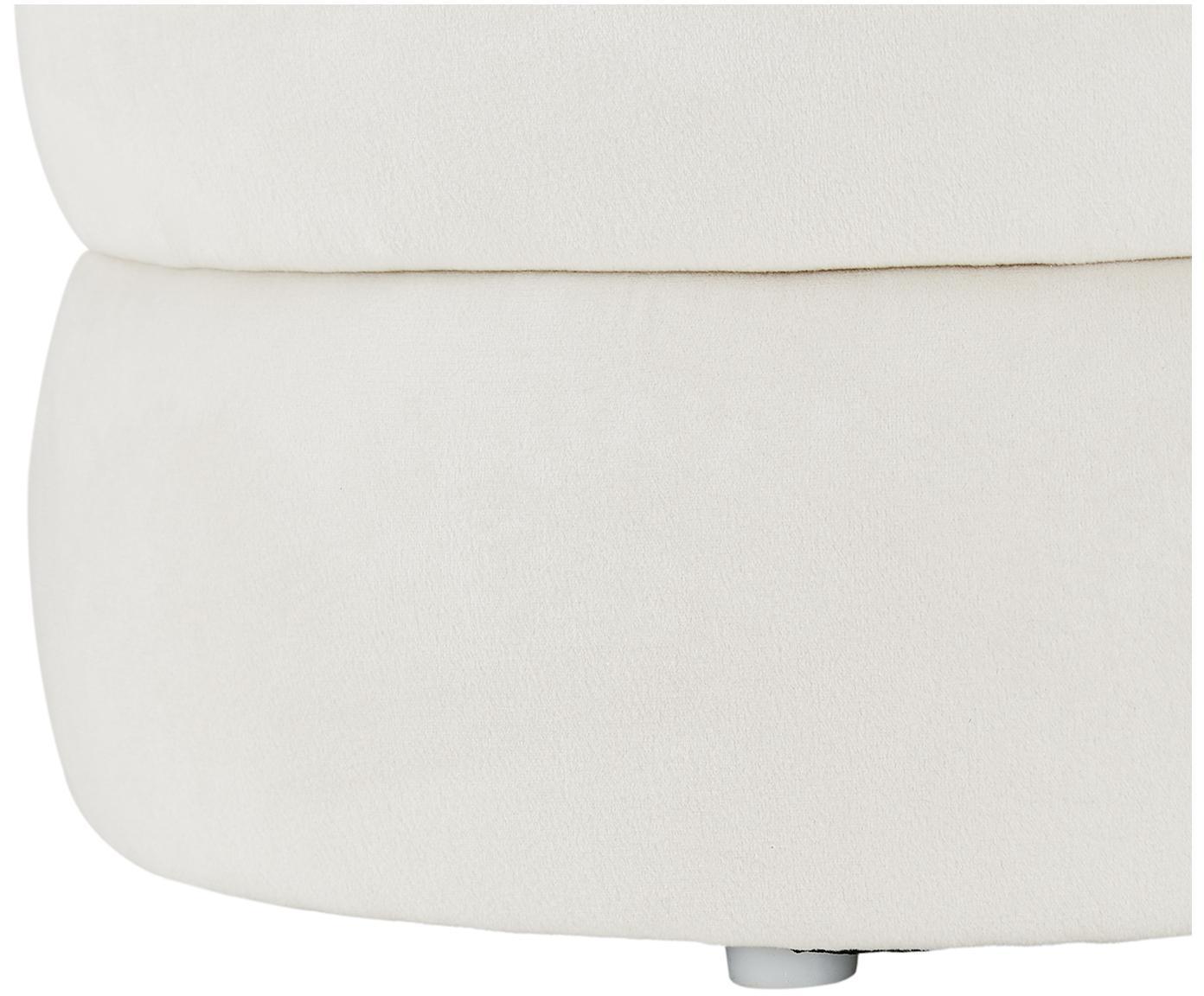 Fluwelen bank Alto, Bekleding: fluweel (polyester), Frame: massief grenenhout, multi, Crèmewit, 110 x 48 cm