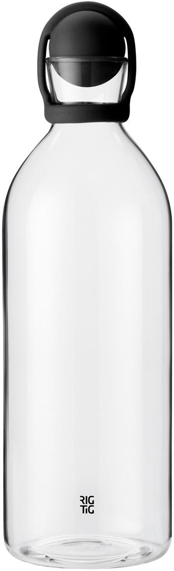 Waterkaraf Cool-It, Zwart, transparant, 1.5 L