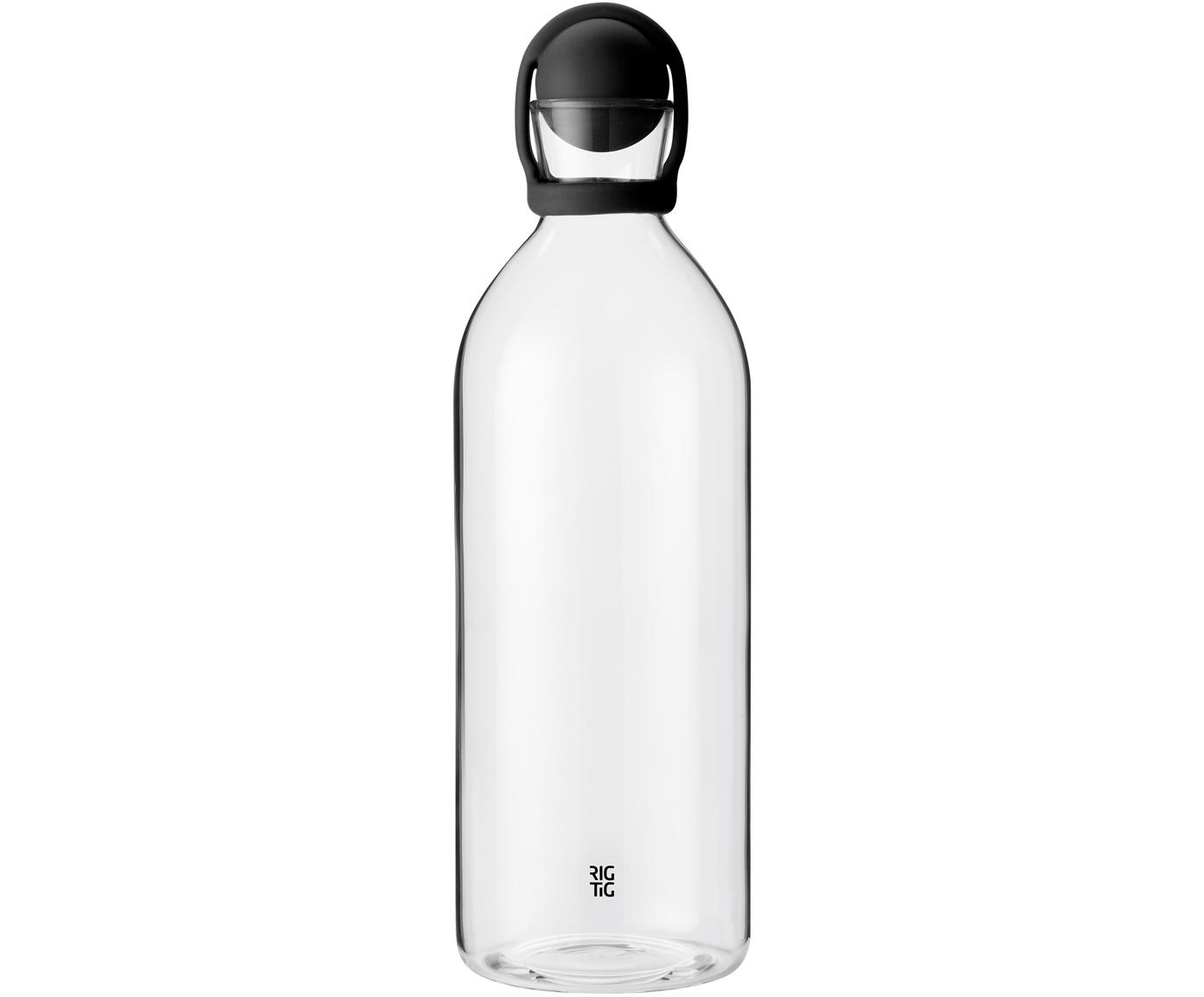Wasserkaraffe Cool-It , Verschluss: Gummi, Schwarz,Transparent, 1.5 L