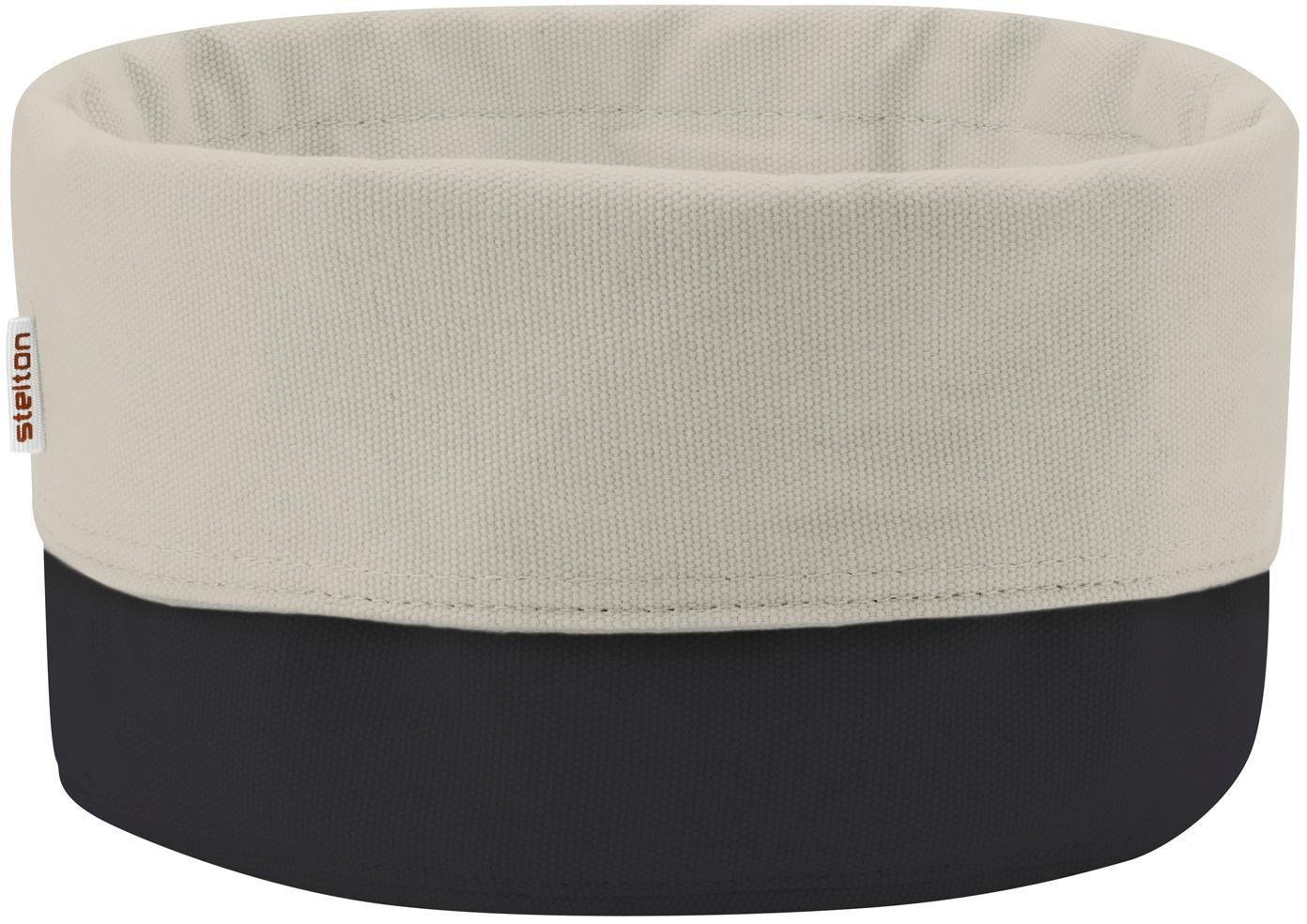 Panera de diseño Helga Duo, Algodón, Beige, negro, Ø 23 cm