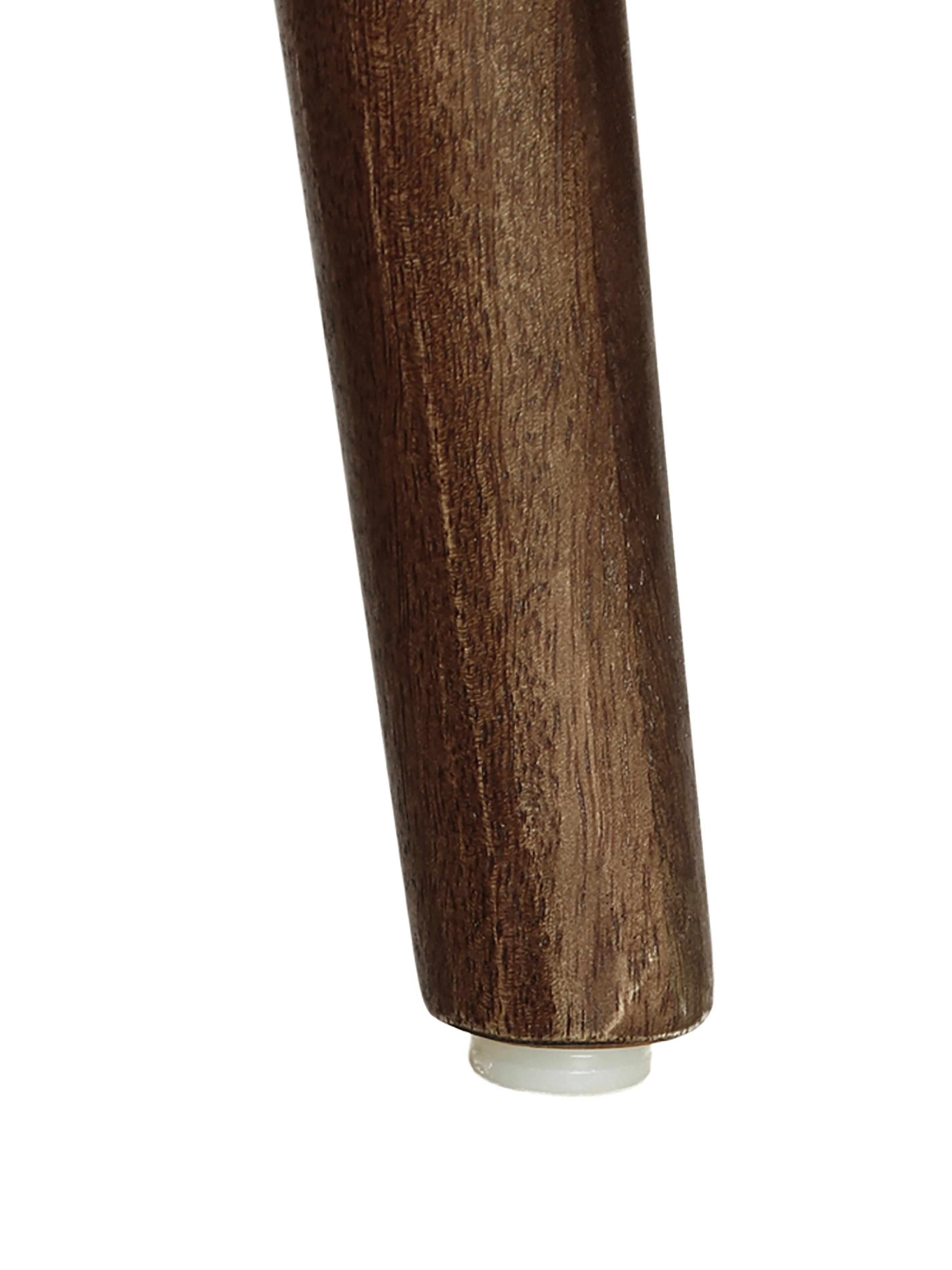 Tavolo ovale in legno massello Oscar, Legno di mango massello, verniciato, Marrone scuro, Larg. 203 x Prof. 97 cm