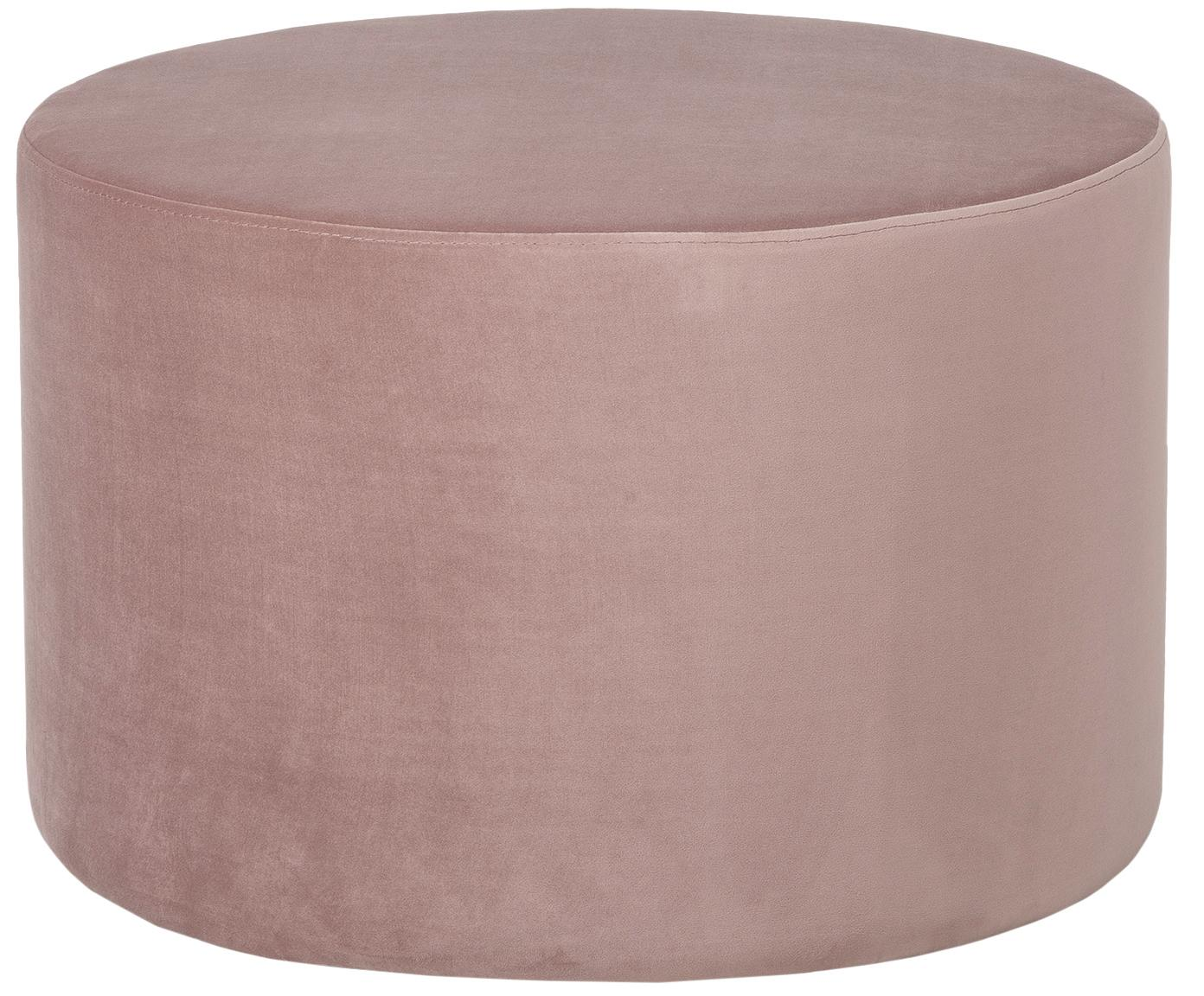 Puf de terciopelo Daisy, Tapizado: terciopelo (poliéster) 15, Estructura: tablero de fibras de dens, Rosa, Ø 62 x Al 41 cm