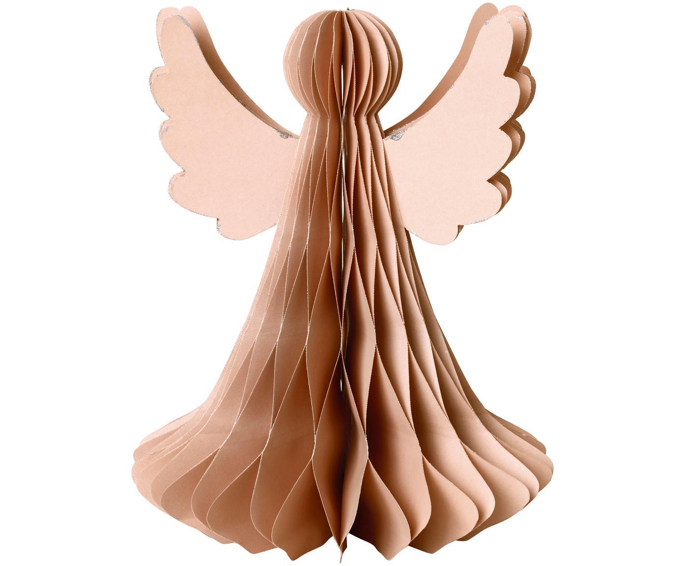 XL Deko-Objekt Angel, Papier, Altrosa, Ø 21 x H 27 cm
