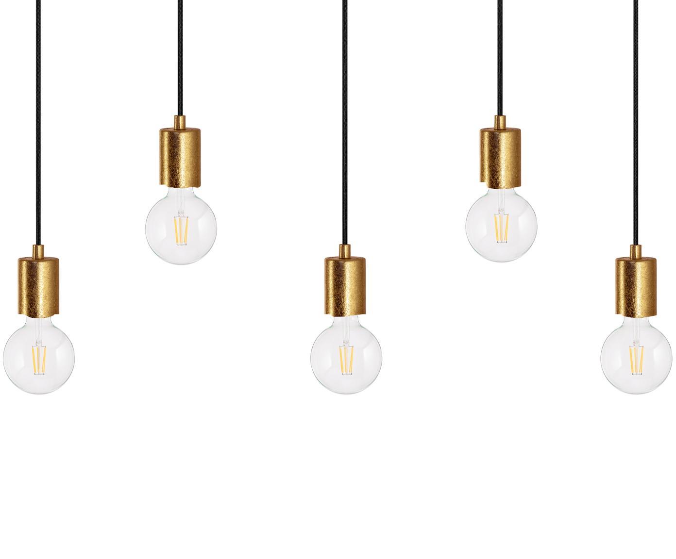 Lampada a sospensione Cero 5, Oro, nero, Ø 55 x Alt. 142 cm