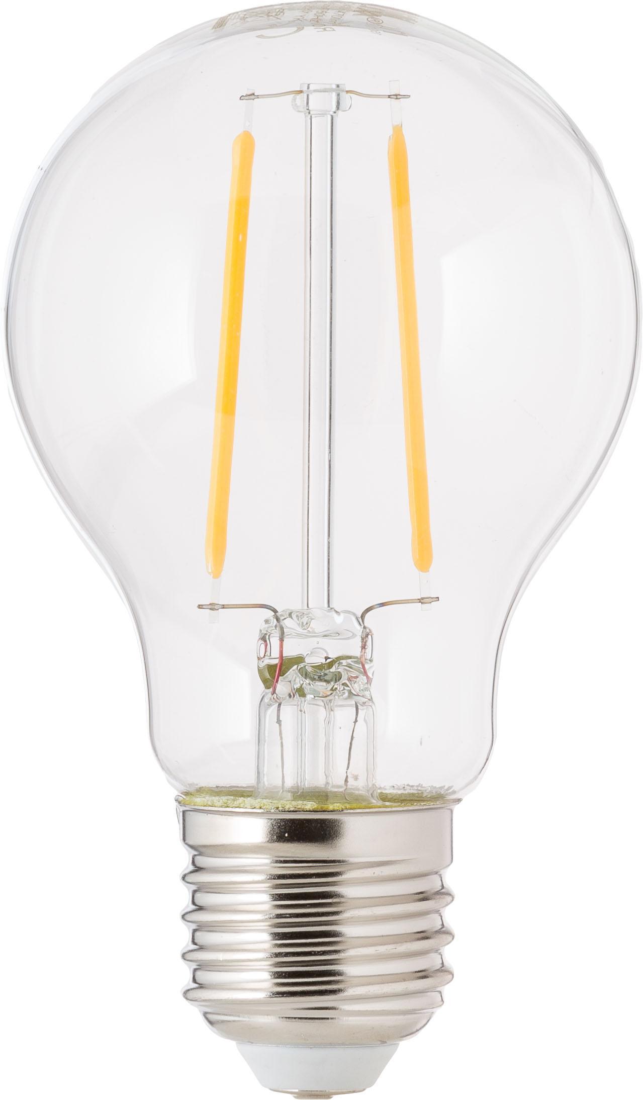 Lampadina a LED Humiel (E27 / 4,6Watt) 6 pz, Lampadina: vetro, Trasparente, Ø 8 x Alt. 10 cm