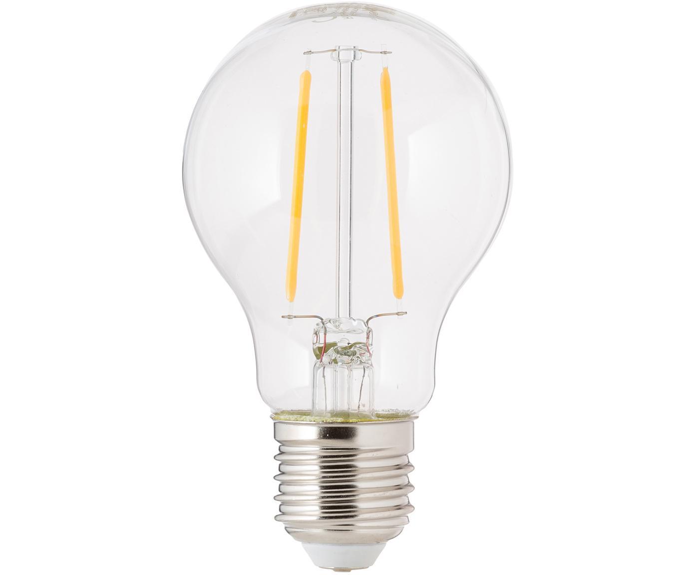 LED lamp Humiel (E27/4W), 6 stuks, Peertje: glas, Fitting: aluminium, Transparant, Ø 8 x H 10 cm