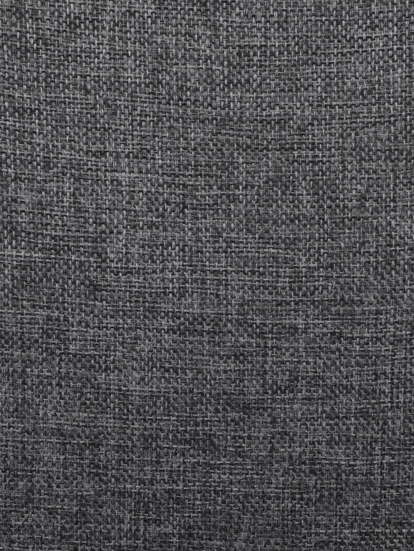 Sillas tapizadas Karla, 2uds., Tapizado: 100%poliéster, Patas: metal, Tejido gris oscuro, patas negro, An 44 x F 53 cm