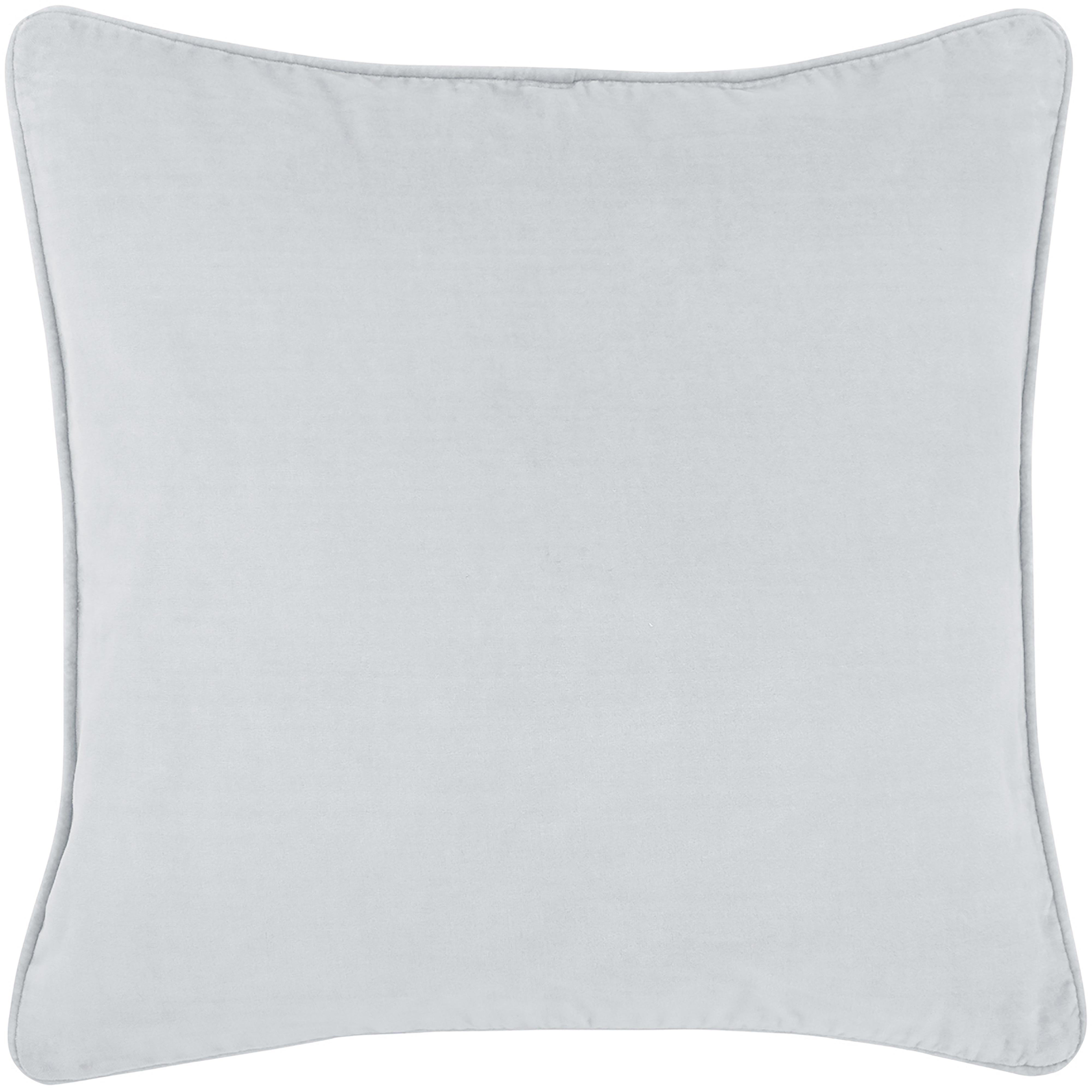 Sametový povlak na polštář Dana, Světle šedá