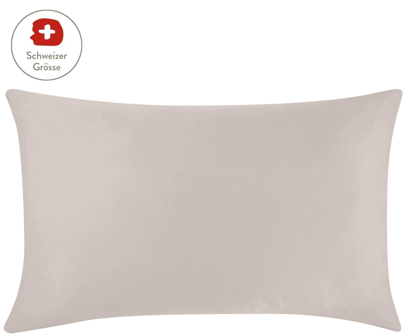 Baumwollsatin-Kissenbezug Comfort in Taupe, Webart: Satin, leicht glänzend Fa, Taupe, 65 x 100 cm