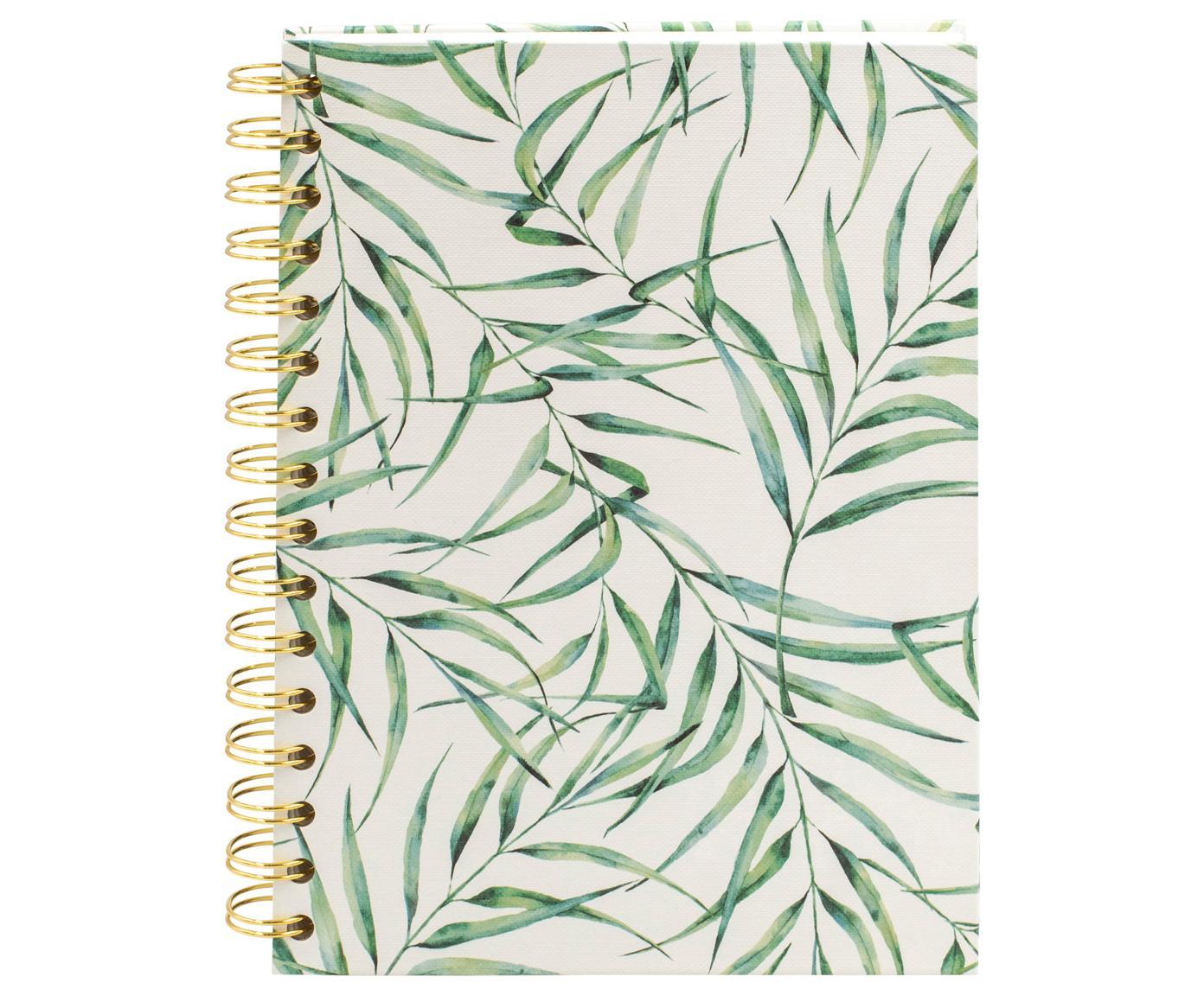 Notitieboek Leaf, Wit, groen, 16 x 21 cm