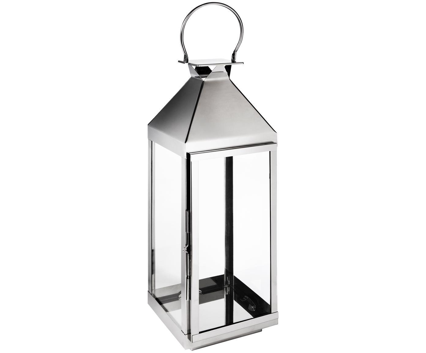 Laterne Grace, Hochglanzpolierter Edelstahl, Glas, Edelstahl, H 60 cm