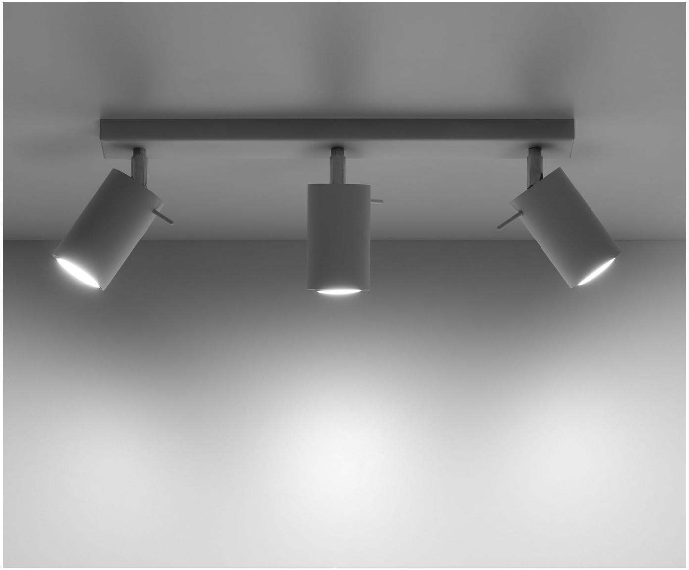 Lampa sufitowa Etna, Stal lakierowana, Biały, S 45 x W 15 cm
