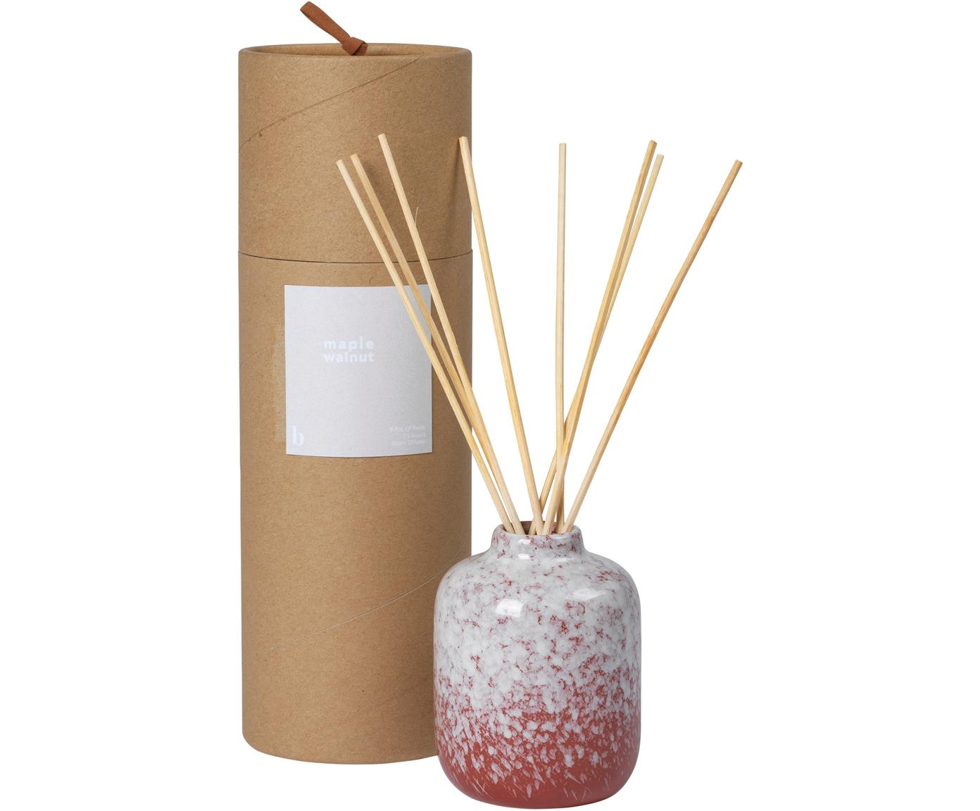 Diffuser Maple Walnut, Behälter: Keramik, Rot, Weiß, Ø 7 x H 9 cm