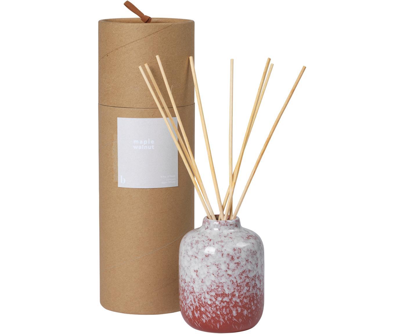 Diffusore Maple Walnut, Contenitore: ceramica, Rosso, bianco, Ø 7 x Alt. 9 cm