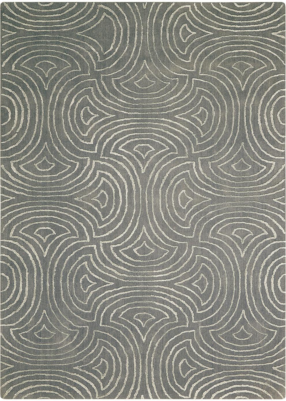 Handgetuft vloerkleed Vita Illusion met hoog-diep effect, Bovenzijde: 90%polyester, 10% viscos, Onderzijde: katoen, latex-gecoat, Mosgroen, B 150 x L 215 cm (maat M)