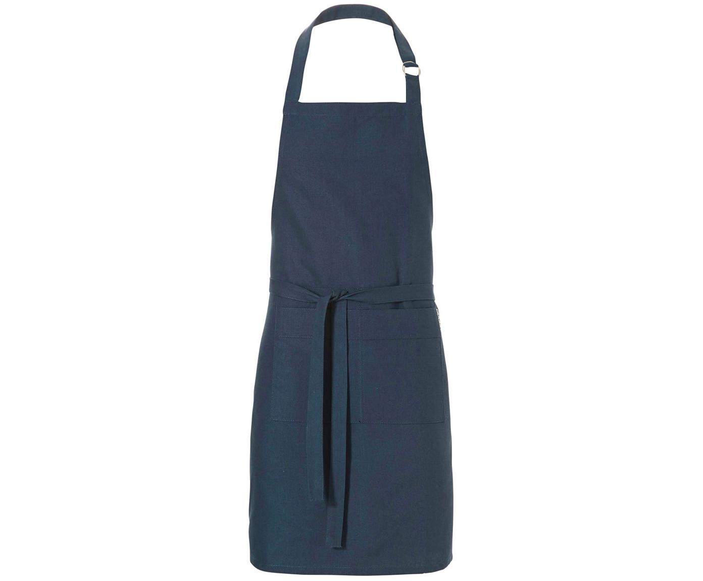 Delantal Kit, Algodón, Azul marino, An 85 x L 85 cm